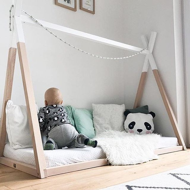 Cama montessoriana, dormitorio montessori, decokids, camas niños