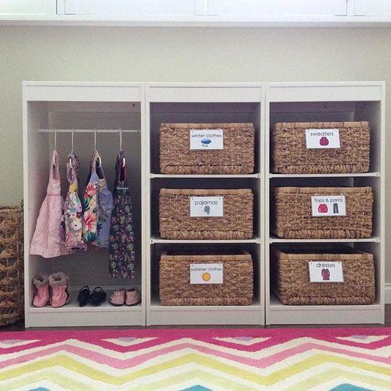 Armario para niños, decoración infantil, dormitorio bebe, maloo studio, montessori, autonomia, maternidad consciente